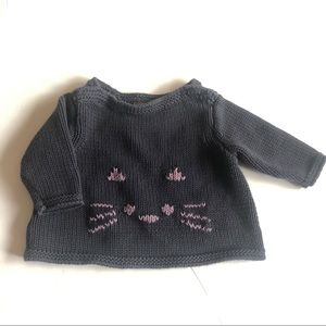 Tea collection knit kitty sweater